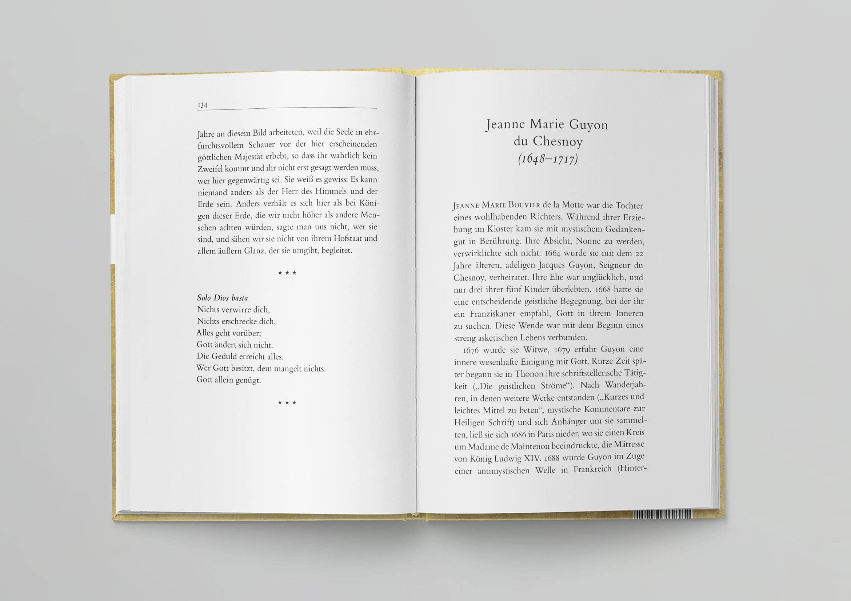 Camino Mystikerinnen Gesamtgestaltung Cover und Innen