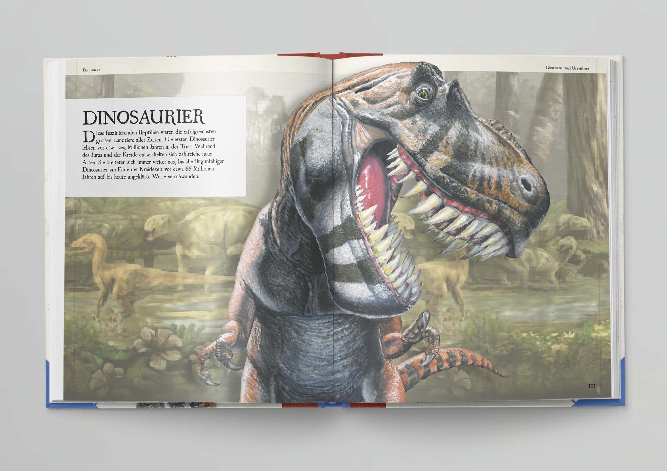 Dinosaurier Mock Up