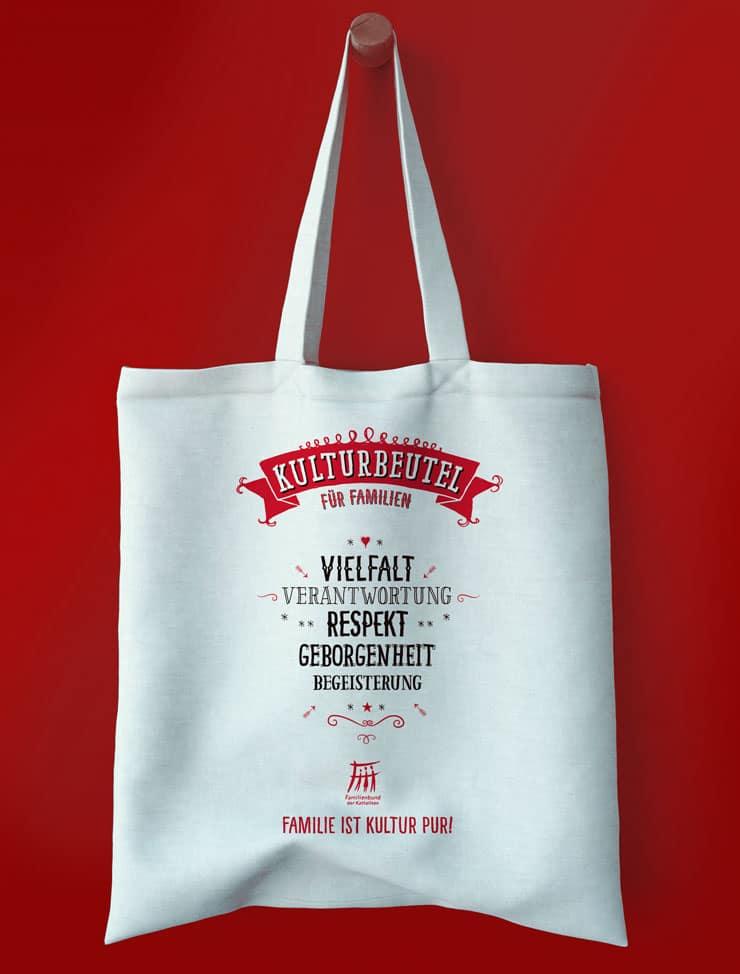 Werbemittel Stofftasche «Kulturbeutel» der Erzdiözese Freiburg