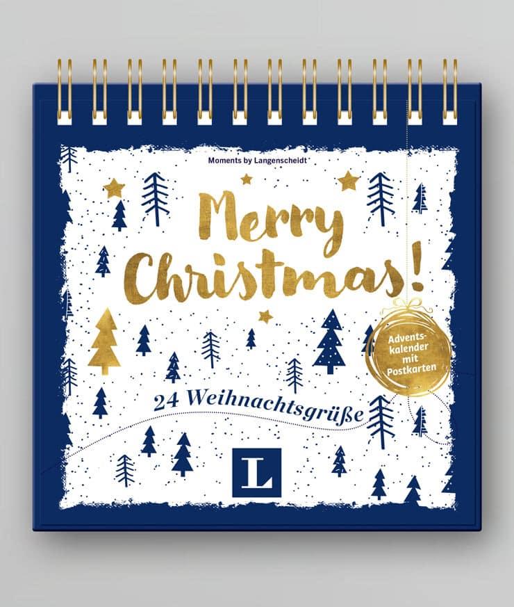 Adventskalender mit Postkarten: 24 Weihnachtsgrüße
